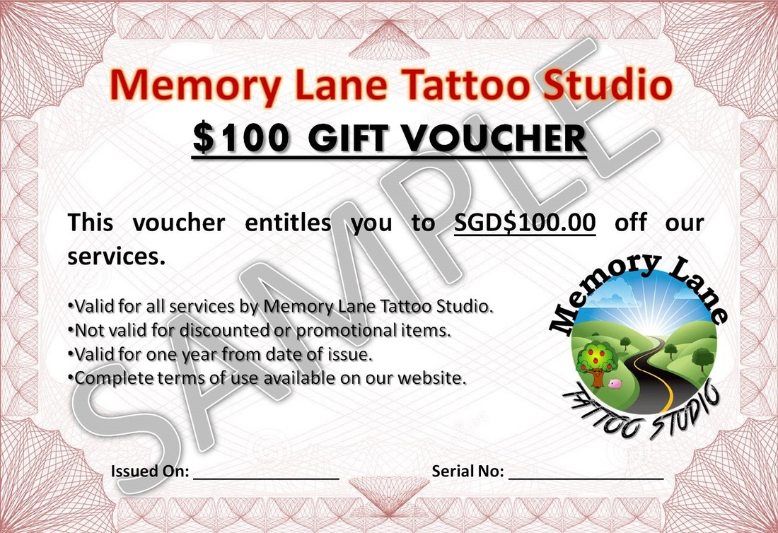 Tattoo Vouchers Memory Lane Tattoo Studio Singapore – Shop Discount Vouchers
